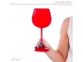 love wine glass divinto red 10754